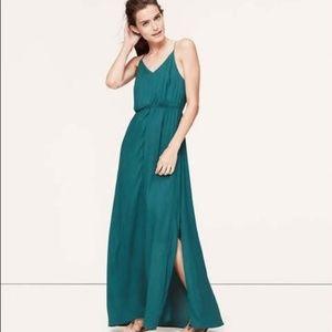 Loft The Mallard Maxi Teal Dress